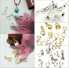 15pcs Silver/Golden Tone 18KGP Pinch Clip Bail Connector For Necklace u choose