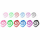 1 x Acrylic Tribal Ear Angled Spiral Choice of Size & Colour 10G-0G 2.4mm-7.6mm