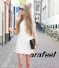 Textured Wave Stripe Sequin Spangle Lace tank top Pintuck shift dress classic