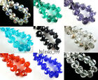 10 Faceted Glass Crystal Rondelle Finding Charm Big Loose Beads 16x12mm FreeShip
