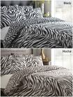 Zebra & Leopard Duvet Cover Sets - Animal Bed Linen Bedding NEW