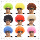 10 Colours Curly Afro Fancy Dress Funky Wig Disco Clown Mens/Ladies Costume