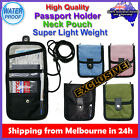 Quality Travel Departure Passport Holder Cover Wallet Neck Pouch Protector Case