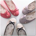 BN Womens Bowed Casual Walking Ballet Flats Ballerinas Shoes Loafers 6 Colours