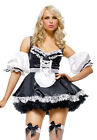 Adult Women's 3 Piece Black & White FRENCH MAID Costume! Sizes M, L and XL