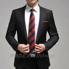 New Mens Luxury  Fashion Stylish Slim Fit One Button Suit X04 1Color 5Size