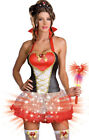 Queen of Hearts Light-Up Costume, Dreamgirl 6399, Adult 4 Piece Size S, M, L, XL