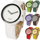 13 Color SECONDLESS DIAL Jelly Sport Fashion Men Boy Girl Wrist Watch PU leather
