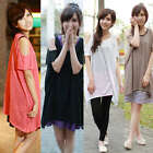 Off shoulder Fashion Korea women's Summer Loose T-shirt Top Blouse Casual 325