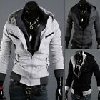 NEW Mens Slim Fit Sexy Top Designed Hoody Jacket Coat  h767 3Color 4Size