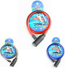 Bicycle Lock Spiral Cycle Safety Heavy Duty Mountain Road Bike Black Red or Blue
