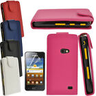 Samsung Galaxy Beam I8530 Exec PU Leather Flip Case in Blue Pink Black White Red