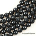 "Gorgeous Black Agate Round Ball Loose Beads 15.5"" 4mm,6mm,8mm,10mm"