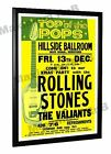 Rolling Stones The Valiants Concert Poster Hillside Ballroom Hereford 1963