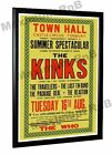 The Kinks The Who Concert Poster Torquay Town Hall 1966