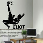 LARGE PERSONALISED FOOTBALL FOOTBALLER WALL MURAL TRANSFER ART STICKER DECAL