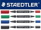 Staedtler Lumocolor Permanent Duo Fine & Medium Marker Pen SINGLES & PACKS OF 10