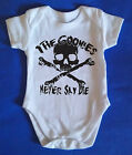 The Goonies Baby Grow / Body Suit, Retro, Baby Clothes, chuck shuffle truffle!