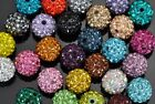 2x Shamballa Crystal Pave Clay Disco Ball Beads Premium 6mm 8mm 10mm 12mm 14mm
