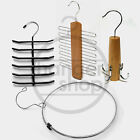 NEW WOODEN METAL BELT /TIE RACK ORGANISER COAT HANGER (MENS ACCESSORY GIFT IDEA)