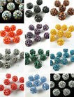 20pc Charms 10mm Austria Crystal Rhinestone Pave European Bracelet Ball Beads