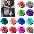 6 colors womens Silky Rose Flower Hat Hair Clip Brooch Pin
