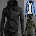 Mens Slim Fit Sexy Top Designed Hoodies Jackets Coats Tops 3Color H862 4size