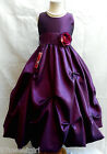 NEW PLUM/DARK PURPLE JR. BRIDESMAID PAGEANT FLOWER GIRL DRESS 2 4 6 8 10 12 14