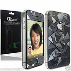 FOR APPLE iPhone 4 4G 4S Real 3D Diamond Effect Screen Protector Front AND Back