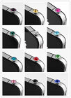 1PC Faceted Crystal Coin Bead Anti Dust Ear Cap Plug Stopper For All Cell Phone