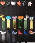 FUNKY BOOKMARKS GIANT PAPER CLIPS HEARTS STARS COMIC ANIMALS BOOTS PARTY BAGS