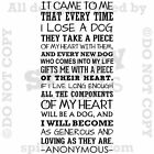 It Came To Me Dog Anonymous Quote Vinyl Wall Decal Decor Sticker