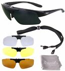 Rx PRESCRIPTION SPORTS SUNGLASSES: POLARISED Mens/Womens: 4 x Interchangeables