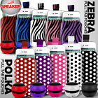 LEATHER POLKA AND ZEBRA PULL TAB CASE POUCH+SPEAKER FOR VARIOUS LG PHONE