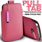 LEATHER PULL TAB SKIN CASE COVER POUCH+MINI STYLUS FOR VARIOUS MOTOROLA PHONE