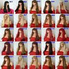 blonde Black Brown Red WIG Long Straight Halloween Fancy Dress Lady Ladies wig N
