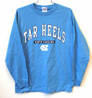 NORTH CAROLINA TAR HEELS NCAA MEN'S COLUMBIA BLUE LONG SLEEVE T-SHIRT NWT  M-2XL
