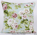 Clarke and Clarke vintage chic Cheltenham Rose cushion cover. 16 inch zip
