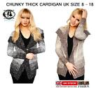 LADIES LARGE COLLAR CHUNKY KNITTED JUMPER SWEATER BLOUSE CARDIGAN TOP OVERSIZE