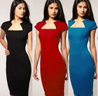 Formal Women Wear to Work Bodycon Wiggle Pencil Sheath Summer Party Dress Y527