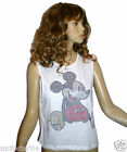 Ladies Stunning Official Licensed Disney Mickey Mouse Crop Top  Size 12-20  NEW