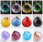 6pc 20mm CRYSTAL Lamp BALL PRISM CHANDELIER WEDDING DECOR TEARDROP Pendant Color
