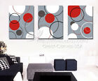 Abstract Modern Wall Art On Quality Canvas Circles In Multi-Colors Can Add Clock
