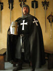 Medieval Knight Templar Hospitaller Cape Cloak w/Cross - No Hood