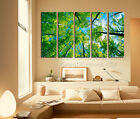 Spring Leaves Great Home Decor Wall Art On High Quality Canvas Set Big Sizes