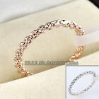 A1-R147 Fashion 1.6mm Narrow Twins Braid 18KGP Band Ring