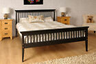 5ft KingSize Bed Solid Wood Shaker WITH LUXURY MATTRESS White Chocolate Caramel