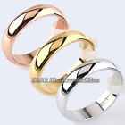 A1-R192 Men's & Women's 4.5mm Band Ring Engagement Wedding 18KGP Size 5.5-12.5