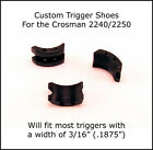 Crosman 1377 1322 2240 2250 2289 2400 - Black Silver Red Metallic Trigger Shoe
