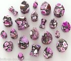 Crazy Purple Agate Stone Plug / Ear Stretcher  - 7 Sizes - Round or Teardrop